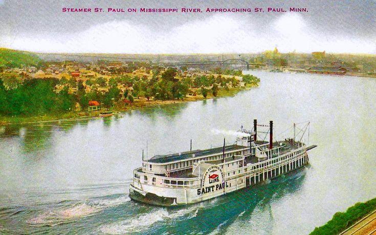 Old saint paul minnesota postcard the steamer st paul