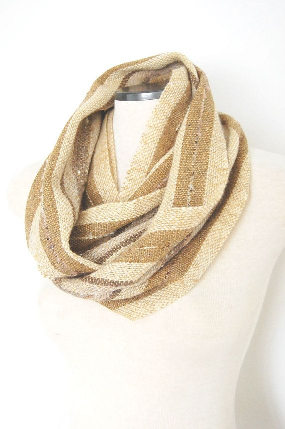 Handwoven Infinity Scarf Wool Infinity by LocallySewnTextiles