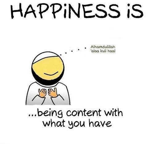 ISLAMIC Quote u0026quot;Happiness is.. being content with what you have ...