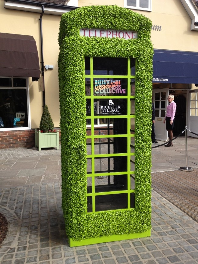 British designer collective 2012- great twist on the traditional London phone box