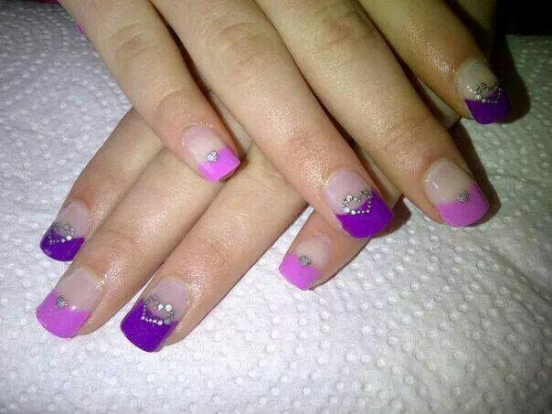 Pink n purple tips