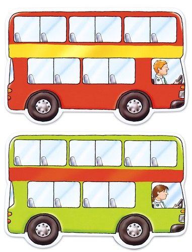 En lançant les dés le joueur peut avancer et sait combien de passagers montent ou descendent dans son bus. Celui qui a le plus de passagers à la fin, gagne ! Contient 1 plateau découpé, 4 tableaux bus 19,5 x 11,3 cm, 4 jetons bus, 4 porte-jetons, 4 cartes passagers 2,8 x 2,8 cm et 2 dés. De 2 à 4 joueurs. Dès 4 ans.