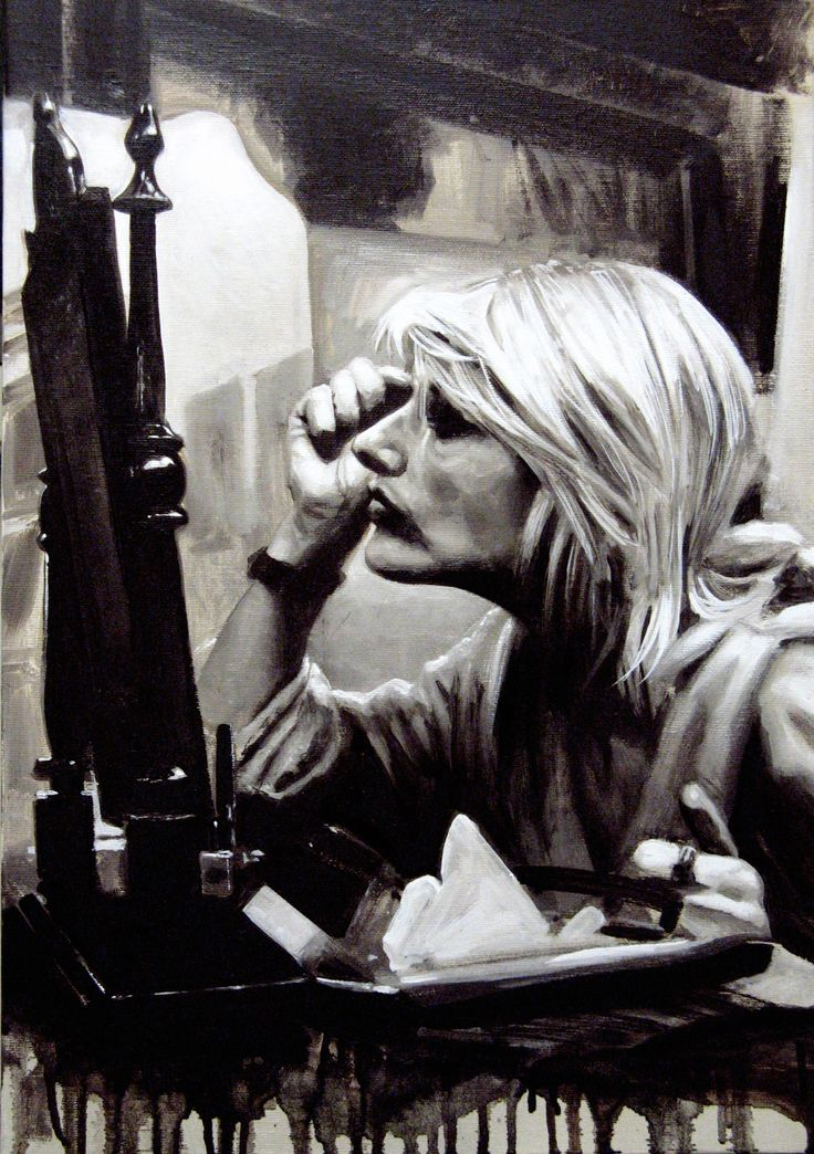 Matteo Nannini, Behind the scenes IV, olio su tela, 50X40, 2015