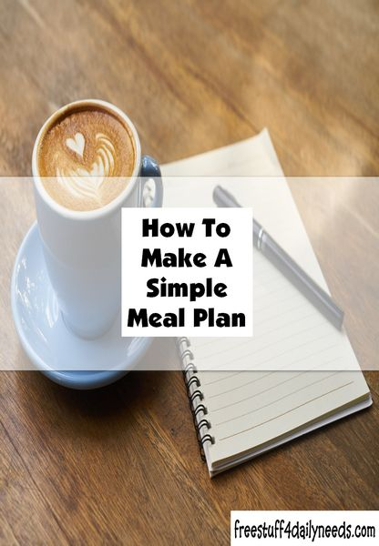 How to make a simple meal plan is quite -- simple. For starters, don't make it complicated--you aren't planning a 12 course dinner every night.