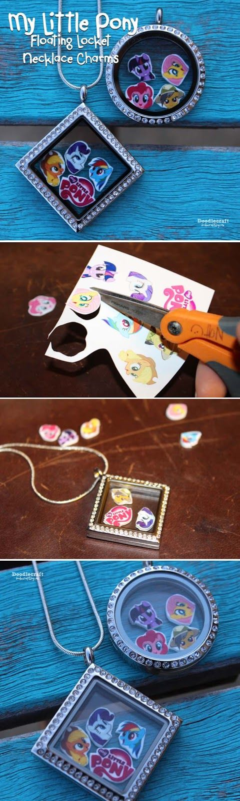 My Little Pony Floating Locket Charms!  Easy to make custom charms