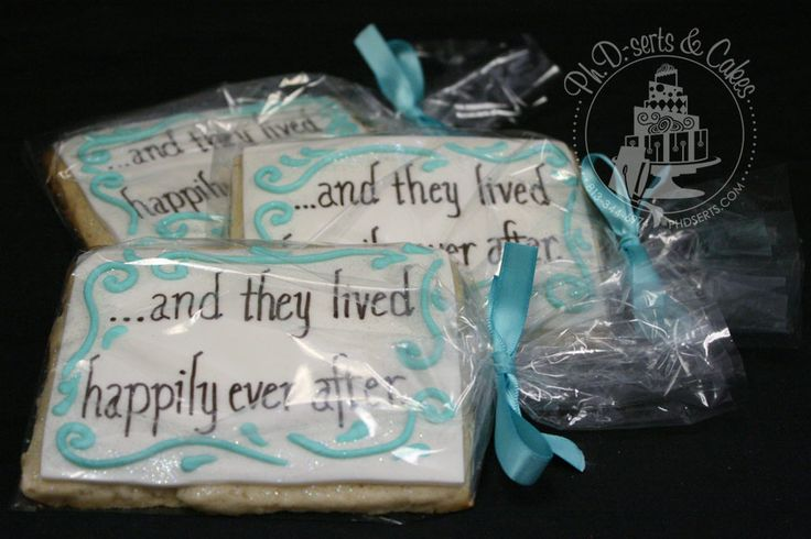 """...and they lived happily ever after"" cookies. Perfect for wedding favors!!!"