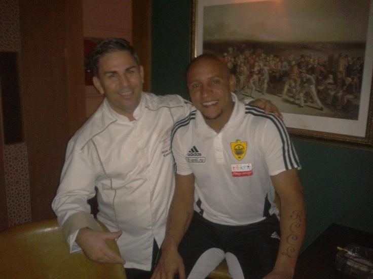 With Bilal Gungor and Roberto Carlos at Kempinski The Dome, Belek.