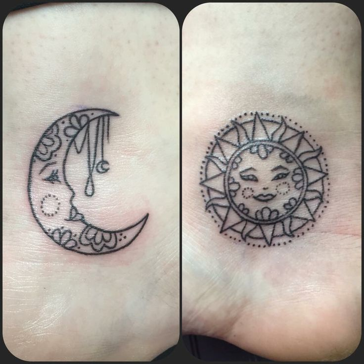 66 best images about sun and moon tattoos on pinterest for Small sun and moon tattoos