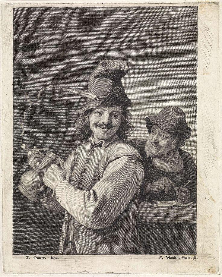 Boer met kruik en pijp, Franciscus van der Steen, 1643 - 1672