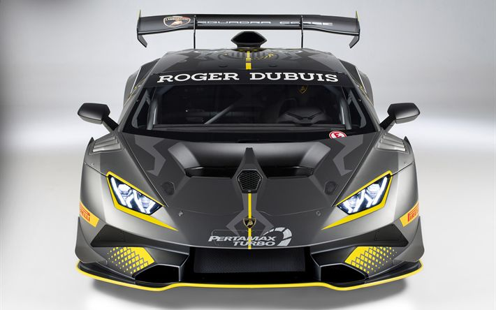 Indir duvar kağıdı Lamborghini Newport, Super Trofeo Evo, 2018, ön görünümü, araba yarışı, ayarlama, Newport, spor arabalar, Lamborghini