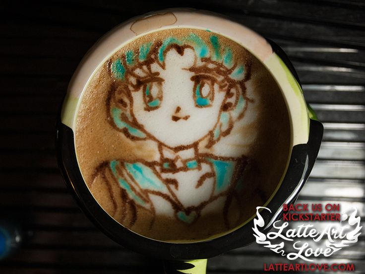 Latte Art - Sailor Mercury