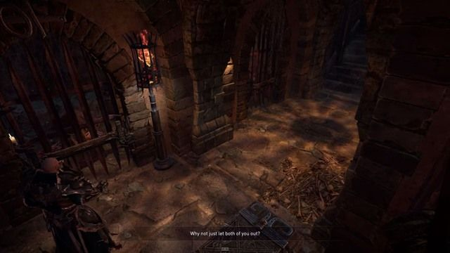 Both of the prisoners will try to convince you of their innocence. - Catacombs - The Imprisoned Monks - Side quests - Lords of the Fallen - Game Guide and Walkthrough