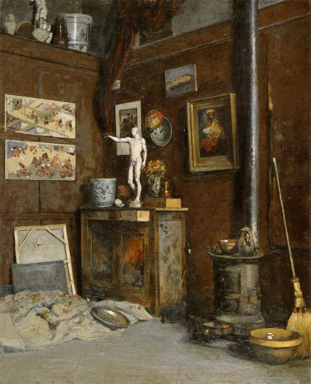 Studio Interior - Gustave Caillebotte, 1872-74