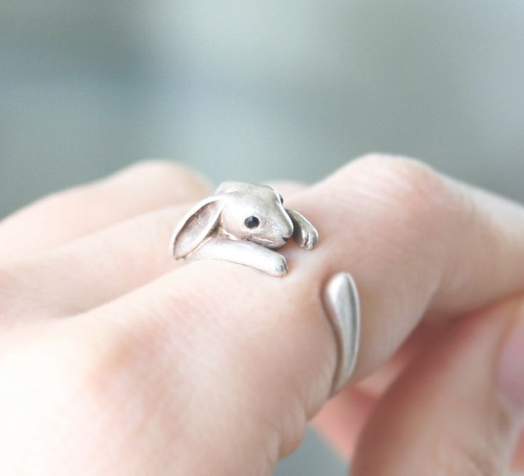 Rabbit Ring Bunny Ring Adjustable Ring Everyday by petitformal, $9.00