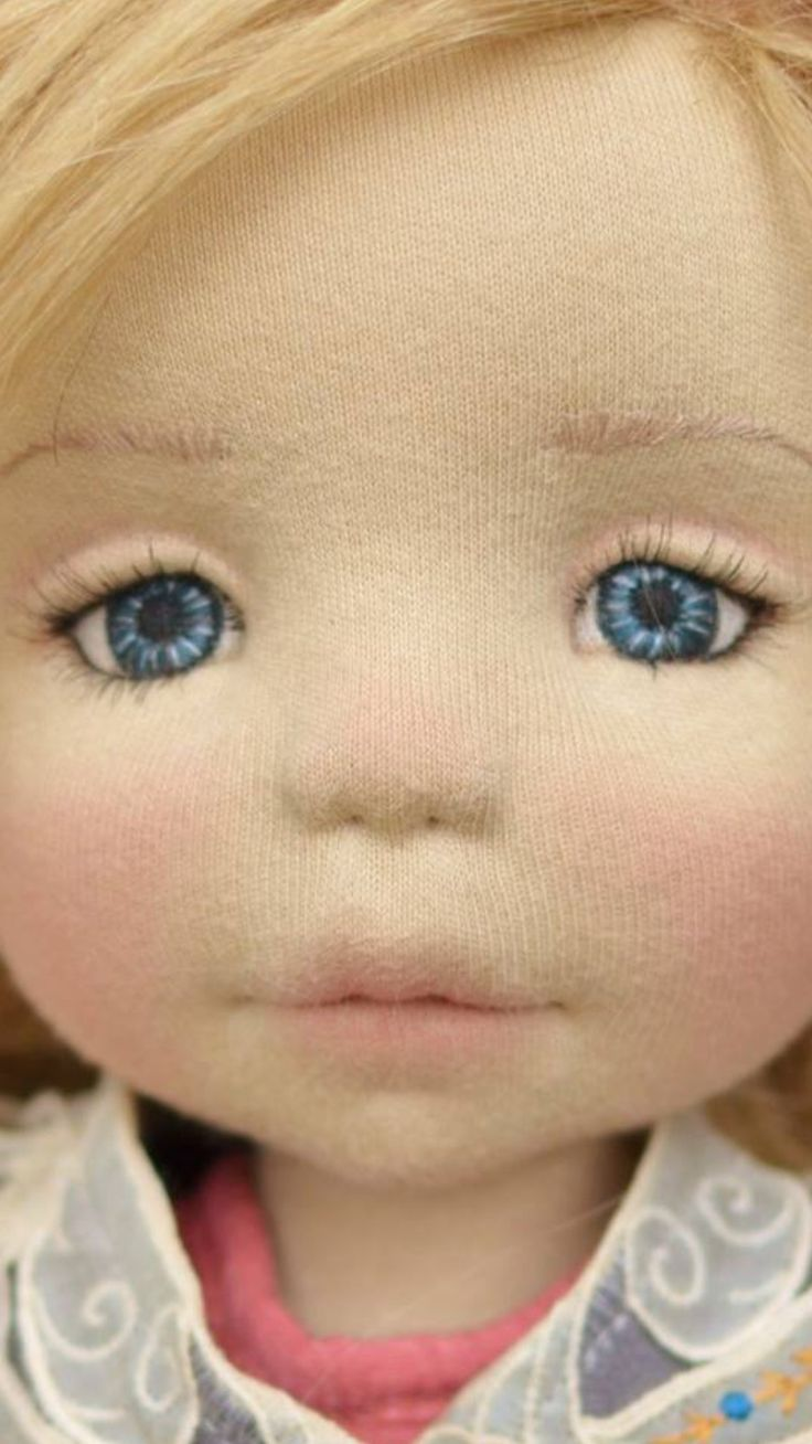 Waldorf Doll stitched eyes                                                                                                                                                                                 More
