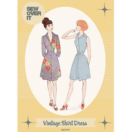 Sew over it--Vintage Shirt Dress pattern
