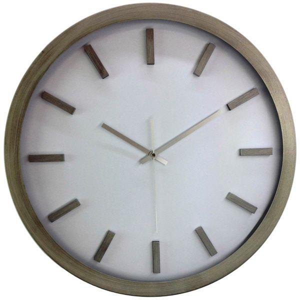 Bold Modern Minimalist 18-inch Silvertone Swiss Rail Road Wall Clock - Overstock Shopping - Great Deals on Clocks