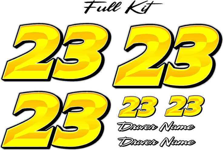 Prismatic - Full Number Kit - RACE CAR, TRUCK, IMCA, OUTLAW, SPRINT: Prismatic - Full Number Kit Please include your drivers… #OnlineMarket