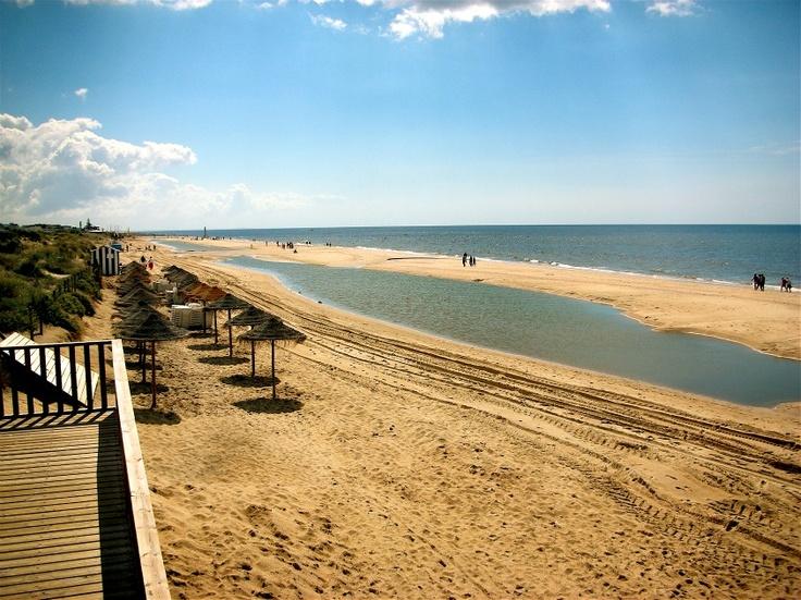 Islantilla Beach in Huelva, Andalusia.