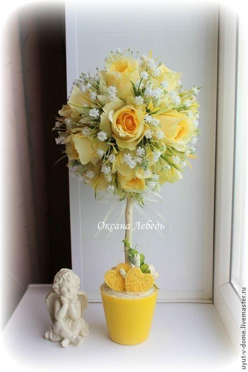 """Топиарии серия """"В саду из роз"""" - Топиари,Дерево счастья,подарок,Декор"""