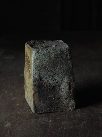 Mitch Iburg, Carved Vessel, Anagama Fired, 2014, www.mitchiburg.com