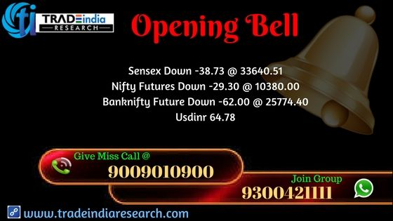 Stock Market #opening #Updates #Sensex #Nifty  #equity #Commodity #stocks #market  #news , currency, depository, online #trading mutual funds,. opening Bell Update  - 27th November 2017 By TradeIndia Research  https://goo.gl/3UPPZG