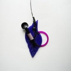 Mor Kolye B7   - #tasarim #tarz #mor #rengi #moda #hediye #ozel #nishmoda #purple #colored #design #designer #fashion #trend #gift