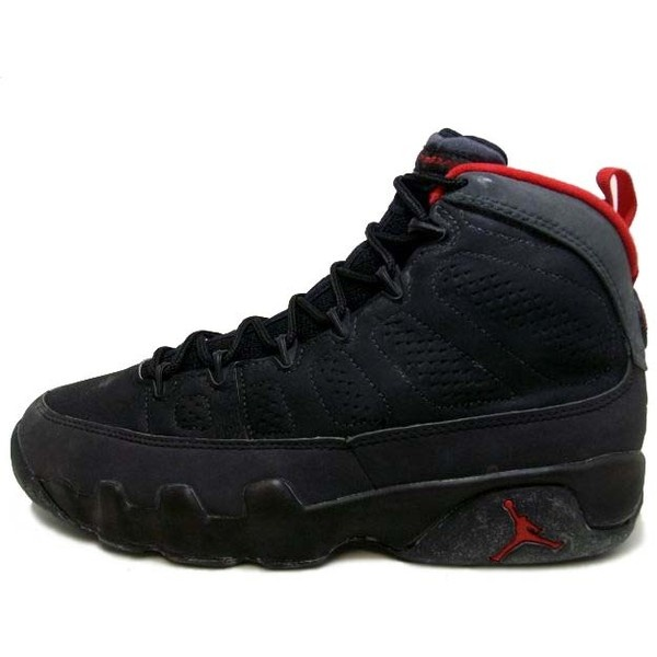 best service 43c91 a7c29 ... NIKE Air Jordan 9 IX Original Black Dark Charcoal True Red 130182-001.