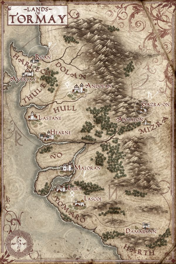 The Lands of Tormay Map by Stormcrow135.deviantart.com on @deviantART