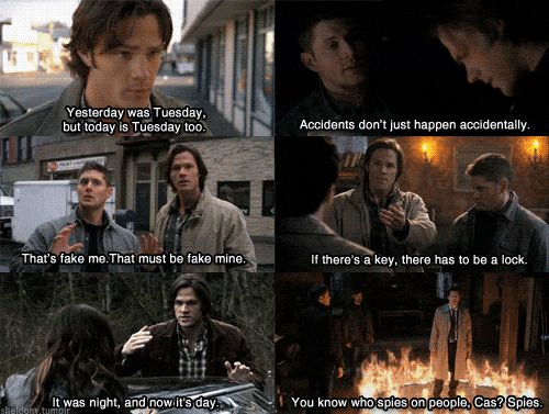 SUPERNATURAL Pictured (L-R): Jared Padalecki as Sam Winchester and Jensen Ackles as Dean Winchester. Description from pinterest.com. I searched for this on bing.com/images