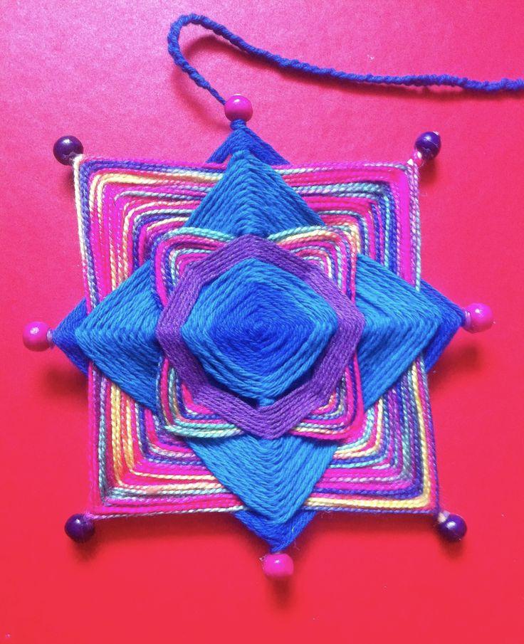 ojo de dios - mandala - para la alegría e inspiración.