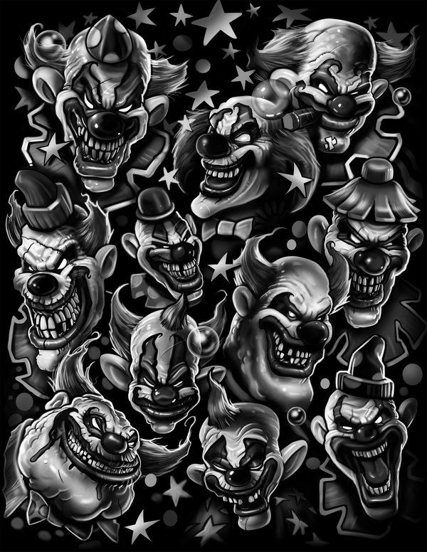 Crazy Clown Drawings Wwwimgarcadecom Online Image