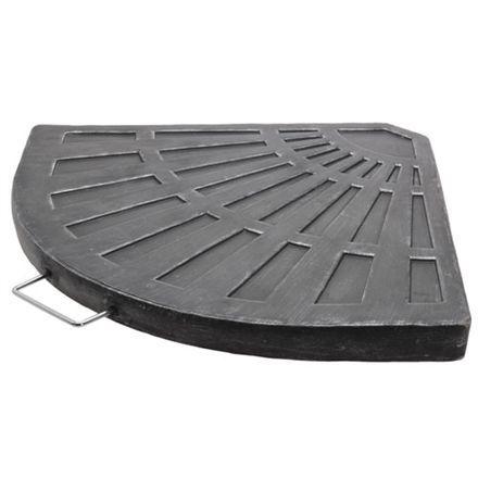 Flise til parasol krydsfod 13,5 kg - Antracit grå med stål håndtag