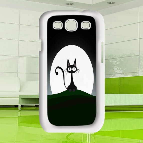 cats at night Samsung Galaxy S3  black / white case by MuliasCraft, $16.00