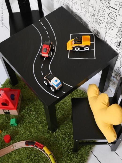 mommo design - IKEA HACKS - Lack table - different tabletop options?? lego, road, rail ....