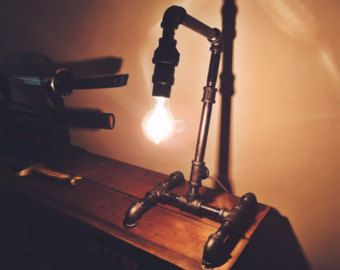 Water Valve Light Switch for a Pipe Lamp by BlackMagicPipeworks