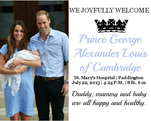 prince george of cambridge | The Arrival of Prince George Alexander Louis of Cambridge: A Recap