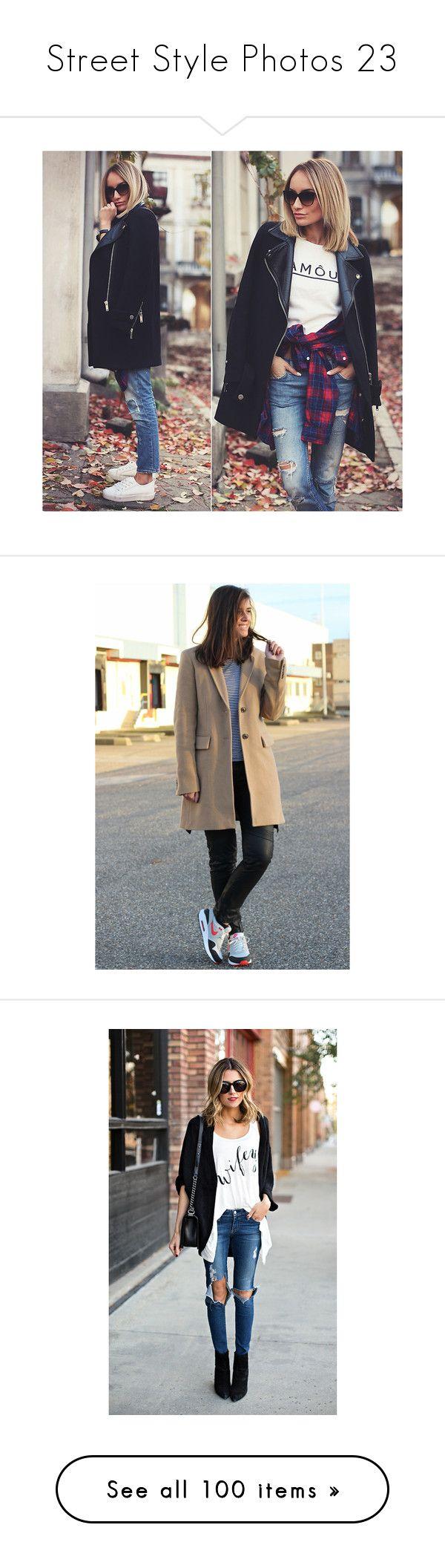 """Street Style Photos 23"" by chocolatepumma ❤ liked on Polyvore featuring pictures, outerwear, coats, nike coat, nike, brown coat, camel coat, white shrug, shrug cardigan and cardigan shrug"