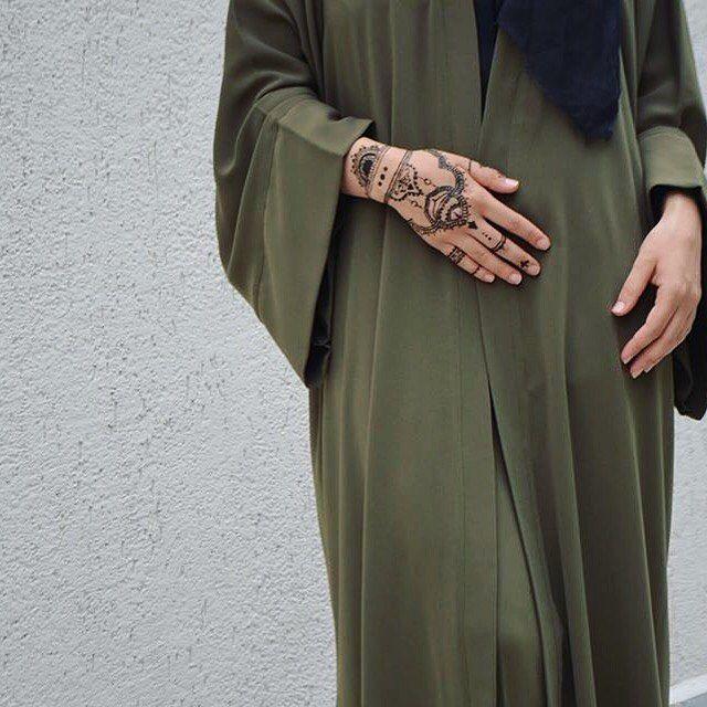 Green Abaya Details. #abaya