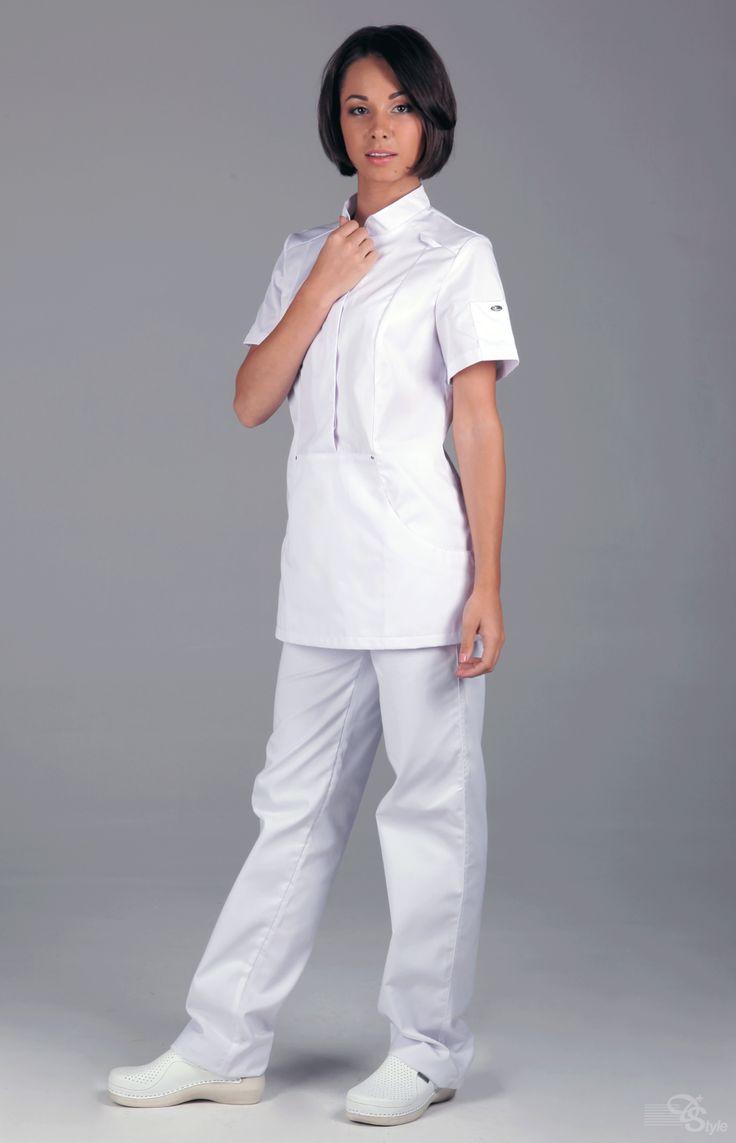 """Блуза медицинская женская """"Кенга"""" белая"""