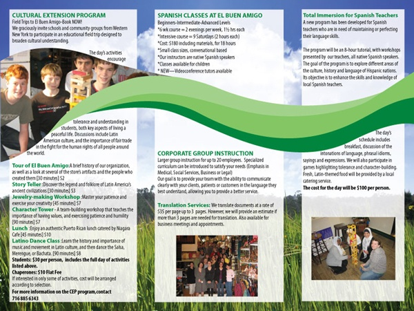 El Buen Amigo Brochure- Trifold brochure for a non profit ...