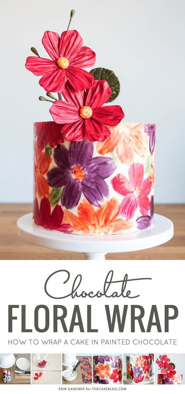 Chocolate Wrapped Cake | Cake Tutorial by Erin Gardner for TheCakeBlog.com