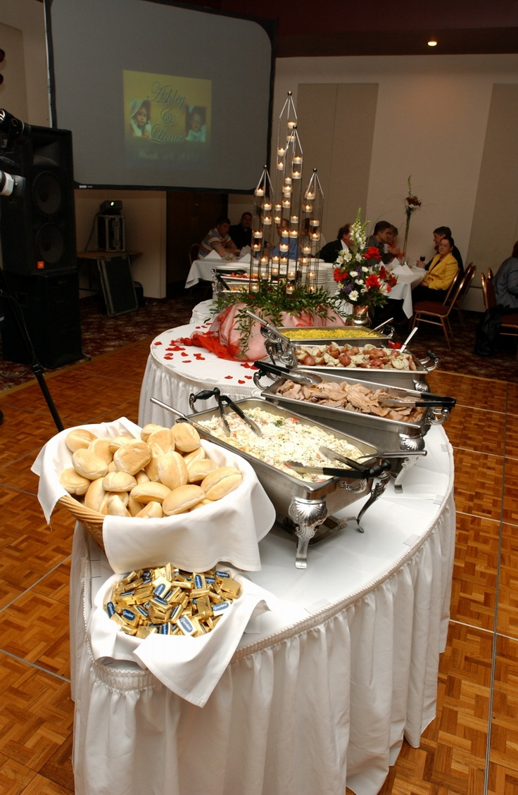 111 best images about buffet table ideas on pinterest for Wedding dinner table decoration