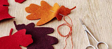 Basteln im Herbst, Herbstideen, Wärmflasche, Teelichthalter, Filz, Blätter, nähen, Vorhang, gemütlich, Wohnung, selber machen - [LIVING AT HOME]