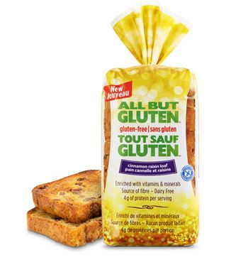 All But Gluten™ Cinnamon raisin loaf