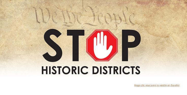 "Rex Curry cited by ""Stop Historic Districts"" for the libertarian goal of protecting private property rights against hysterical perversionism. http://rexcurry.net/historic.html"
