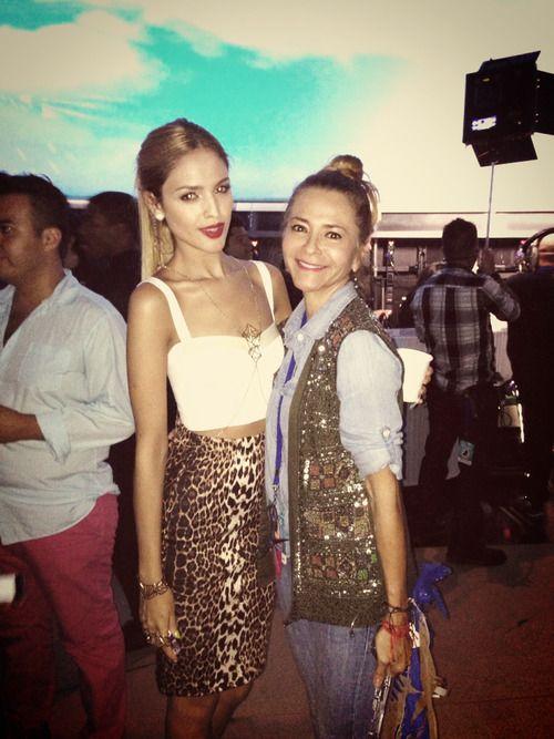 Irma Martinez y Elza Gonzalez backstage de #premiosjuventud #2013