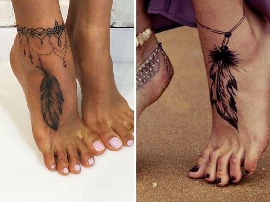 1000 id es sur le th me tatouages de plume la cheville sur pinterest tatouage la cheville - Tattoo cheville femme ...