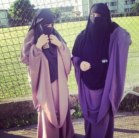 Lovely in Pink and Purple Jilbab with Niqab