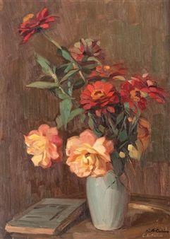 Vas cu trandafiri şi cârciumărese By Constantin Artachino